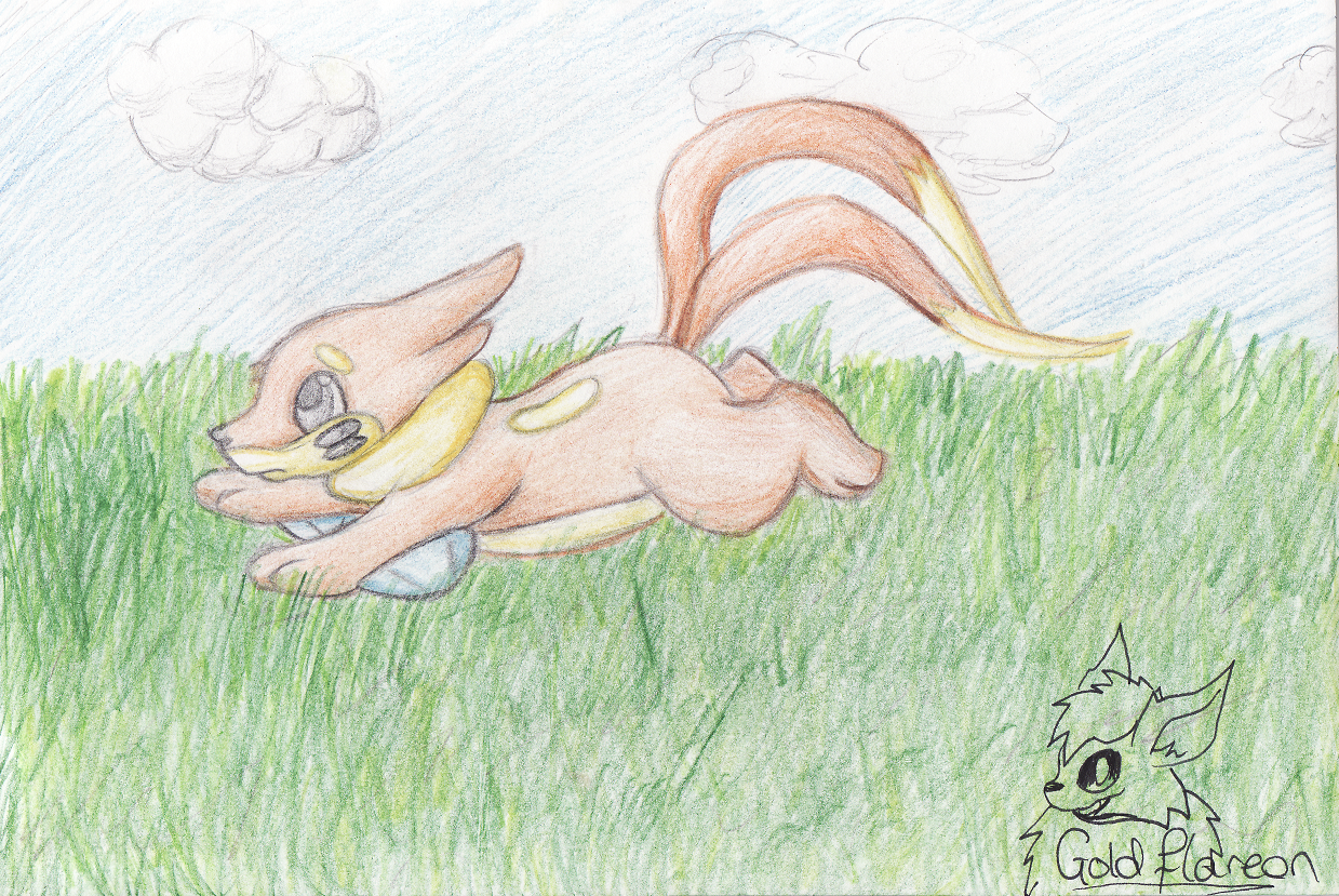 Buizel running by GoldFlareon