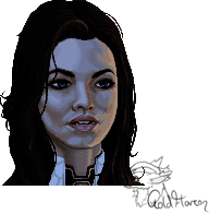 Miranda Lawson Pixel Art by GoldFlareon