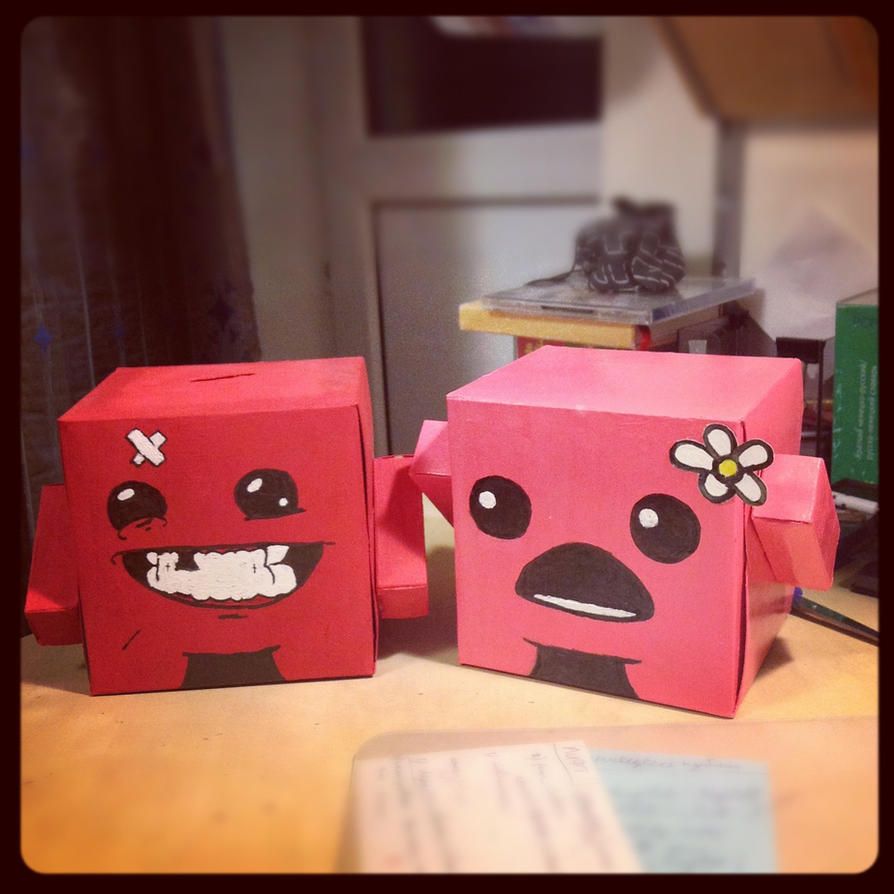 Fresh Super Meat Boy and Bandage Girl by busymin on DeviantArt RC95