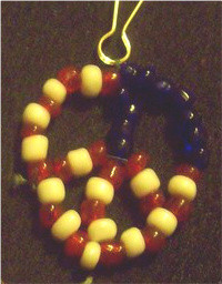 Patriotic Peace sign keychain by kissableangel