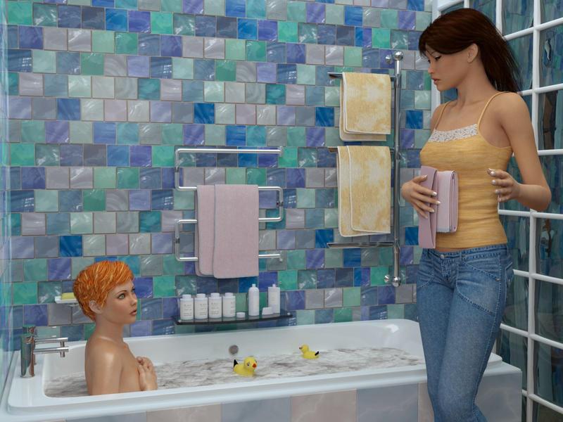 Bathroom scene by pnn32 ...