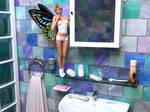 Fairy in Bathroom