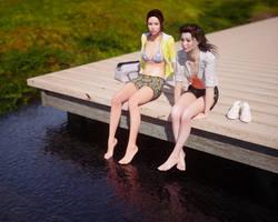 Talking on the pier by pnn32