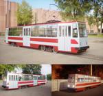 Model of tram in urban environment
