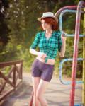 Enjoying soft sunlight on playground by pnn32