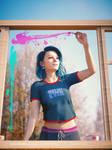 Painting on window glass