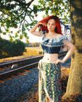 Standing near railway tracks by pnn32