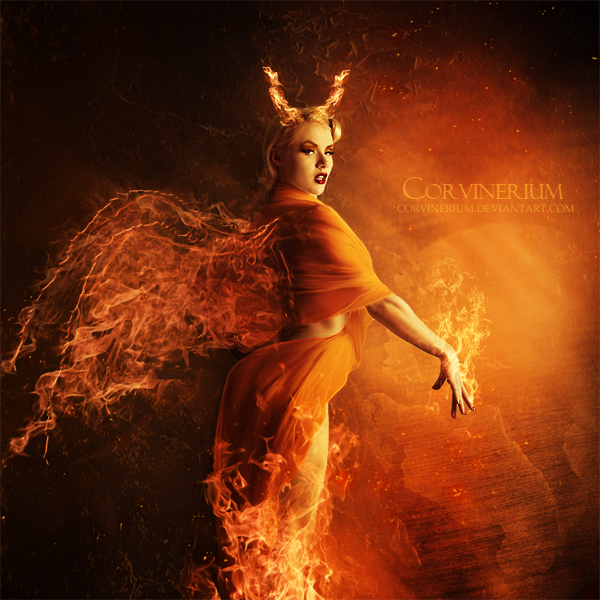 Angel Of Fire by Corvinerium