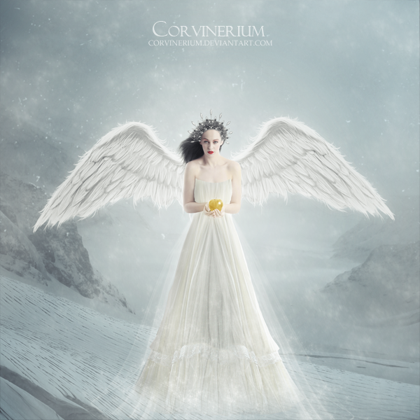 angel of snow by corvinerium on deviantart