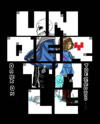 Undertale-Dark on the ground- Cover 1  by Hjuju