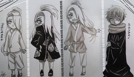 Naruto Shippuden- Deidara and Sasori young by Hjuju