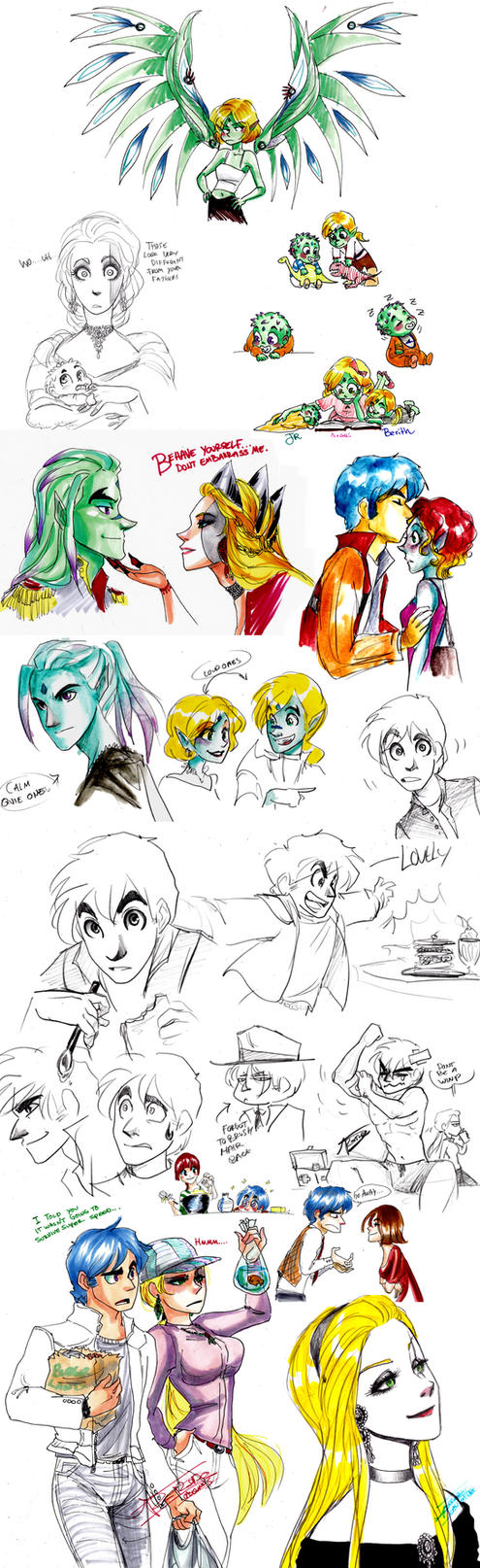 Tumblr RP doodles by oasiswinds