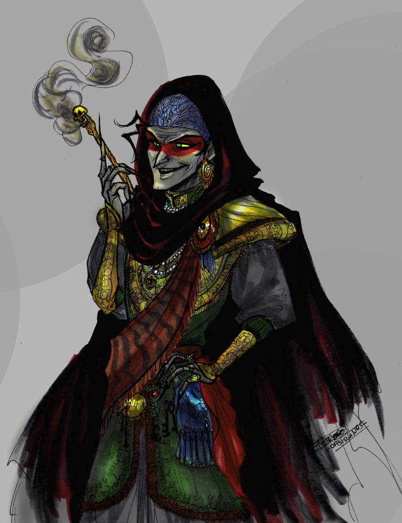 Baba Yaga by oasiswinds