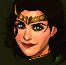 Sylvie Loki Black With Black Hair
