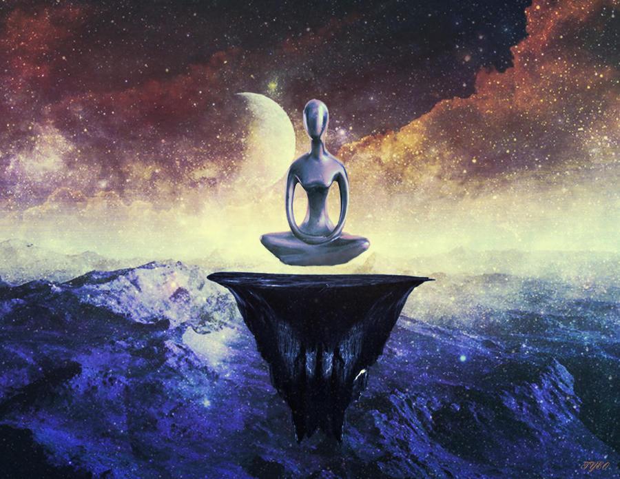Alien meditation by tyeo on deviantart - Meditation art wallpaper ...