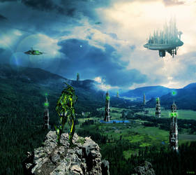 Alien Colony by TYEO