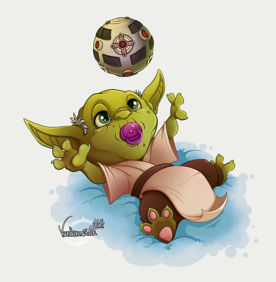 Yoda training by NikiVandermosten