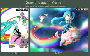 Draw This Again - Riding on Nyan Cat by MomoChan-100