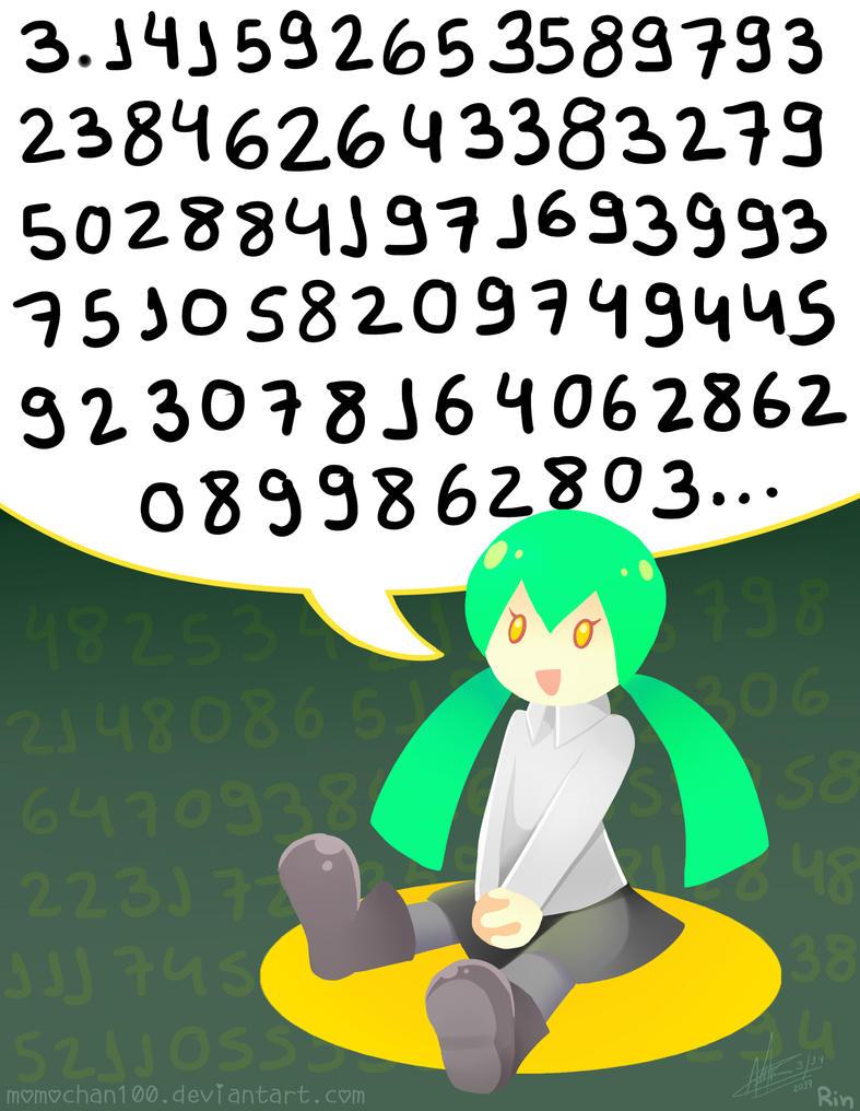 Hatsune Miku Remembers Pi again by MomoChan-100
