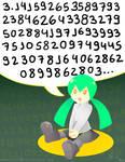 Hatsune Miku Remembers Pi again