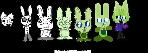 NeonWabbit Character Progression 2005 - 2011 by NeonWabbit