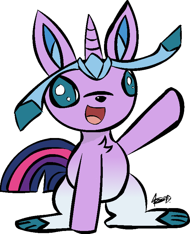 Twilight Sparkle x Glaceon Offspring by NeonWabbit