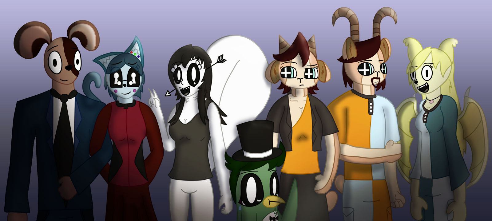 Nyah Has an Adventure Cast Poster v2 by NeonWabbit