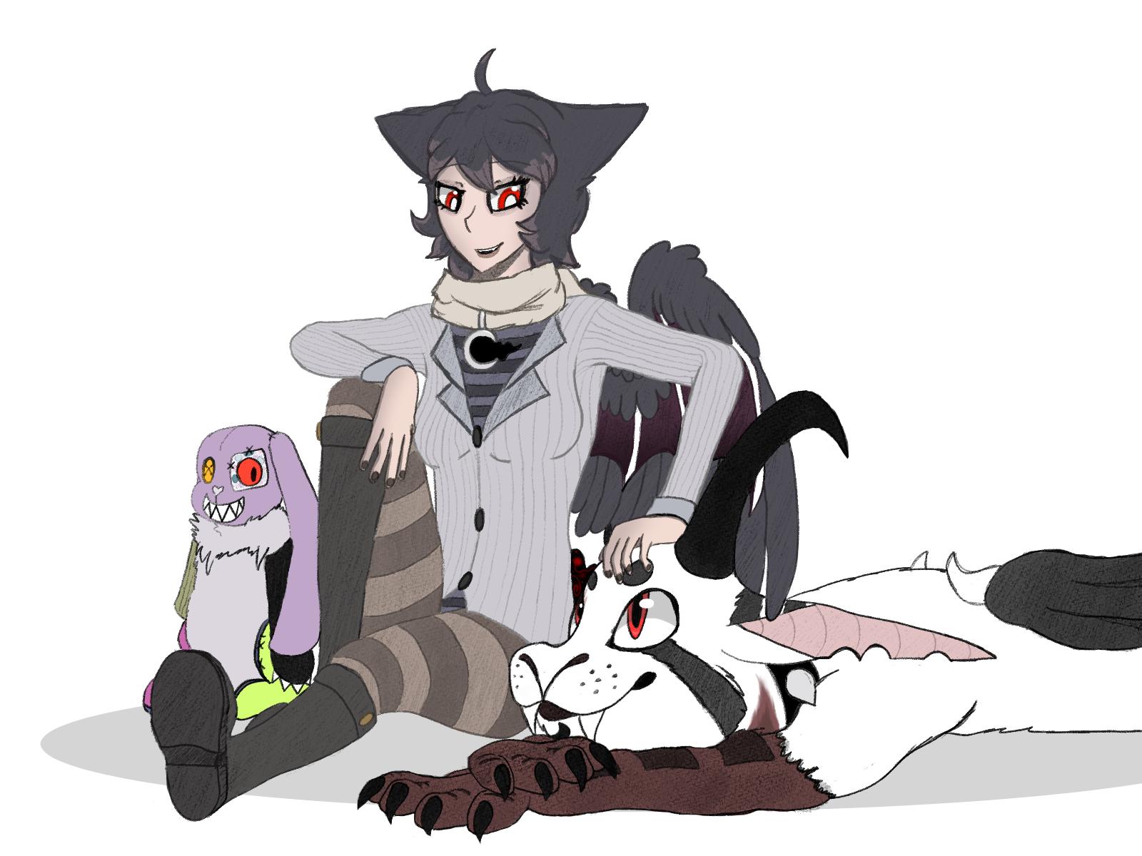 Carin, Drake and Kitty