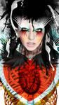 RedQueen Print by darklineink