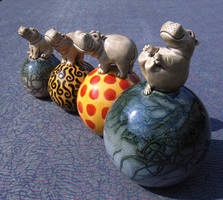Circus Hippos by Hippopottermiss