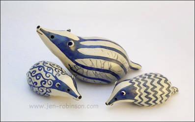 The Blue Badger Family