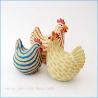 Candy Coloured Chickens by Hippopottermiss