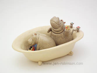 Bathtime Kids by Hippopottermiss