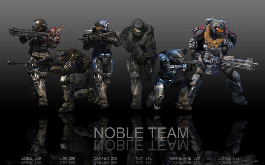 HALO REACH:  NOBLE TEAM by spartan283