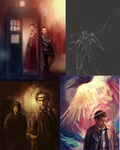 Sketches, WIPs, nothing finished, oh my!
