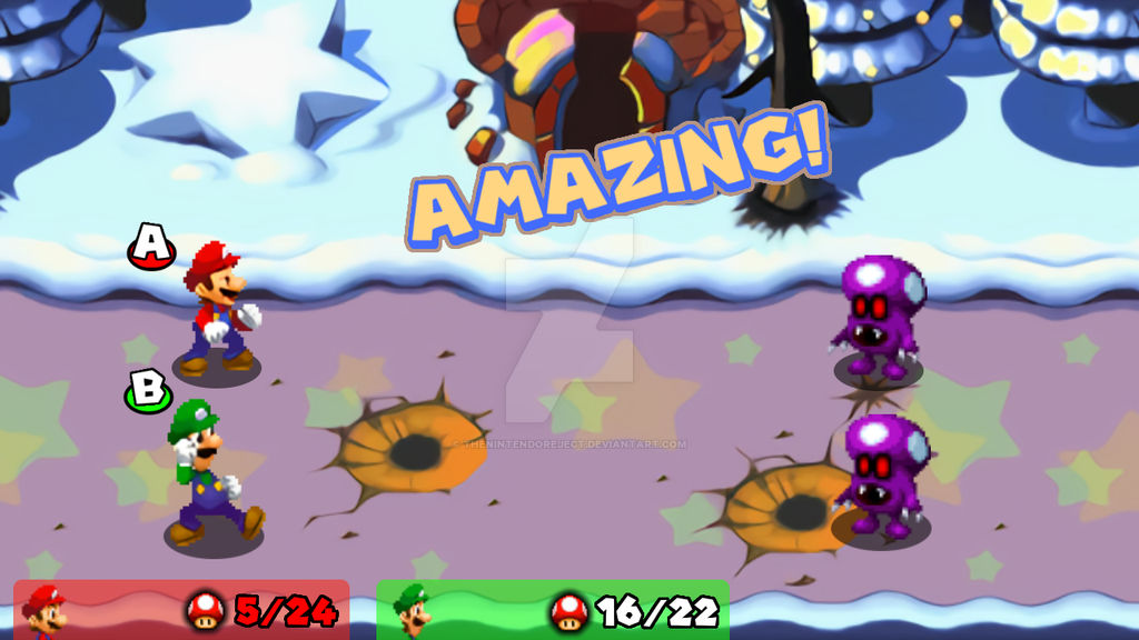 Mario And Luigi Partners In Time Hd Battle By