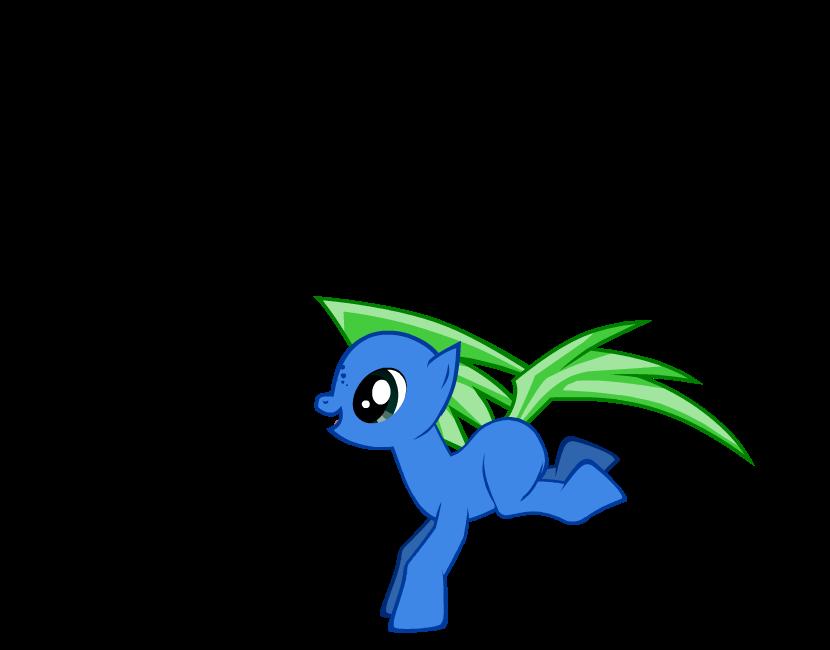 Blue pony by emitis17