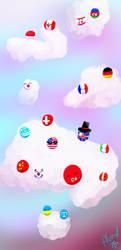 Some countryballs by Alucielo
