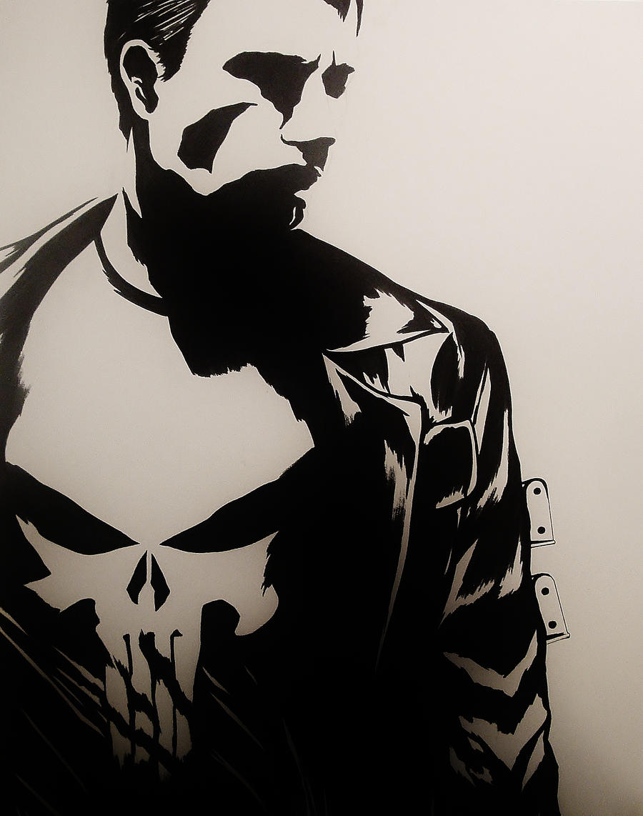 The Punisher - Black And White by smlshin on DeviantArt