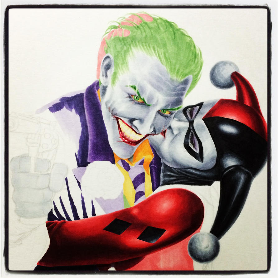 Joker and Harley WIP by smlshin