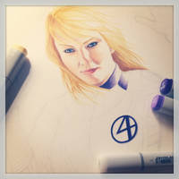 Invisible Woman WIP by smlshin