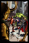 Avengers #1 Tribute Cover Colored