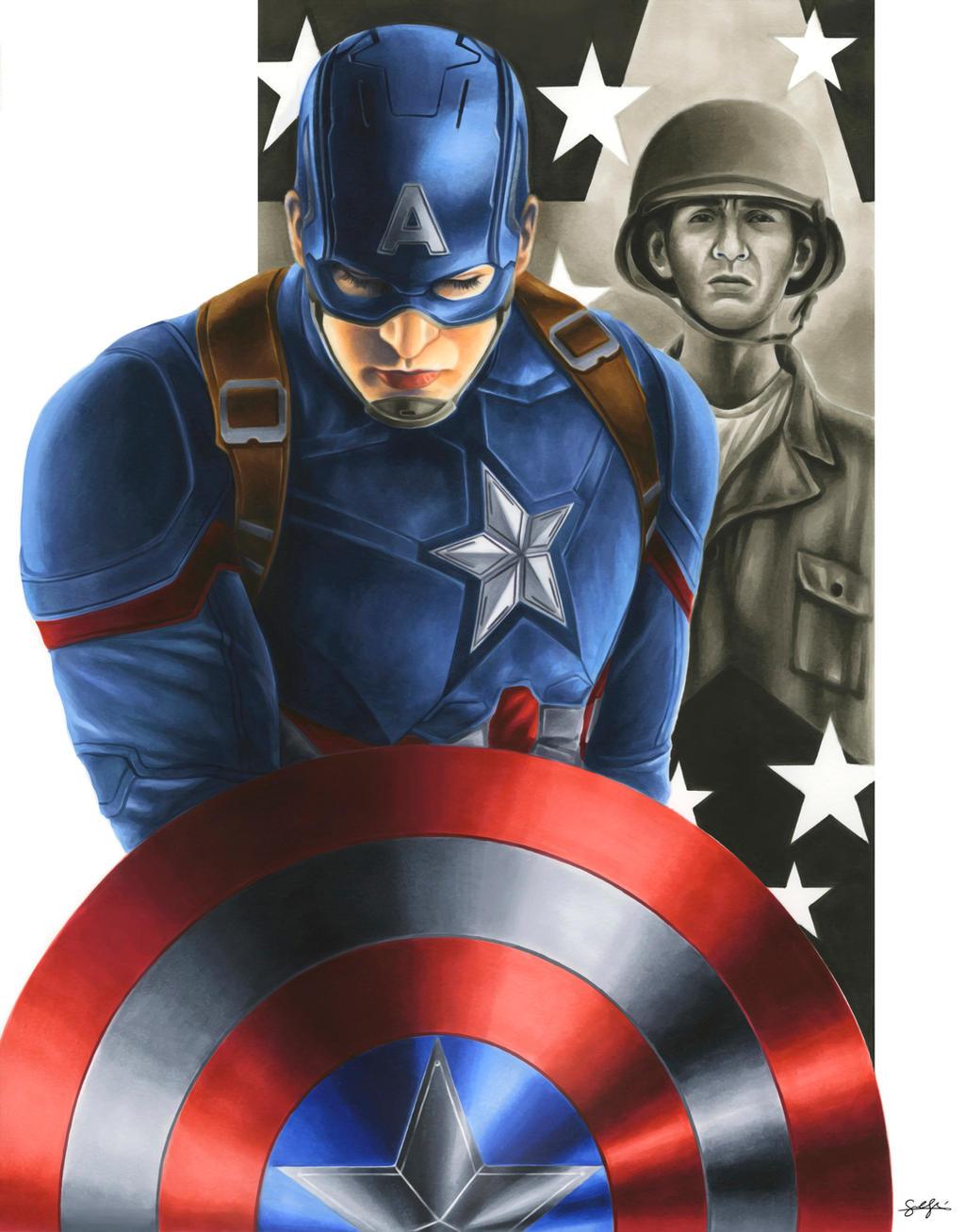 Civil War: Captain America by smlshin