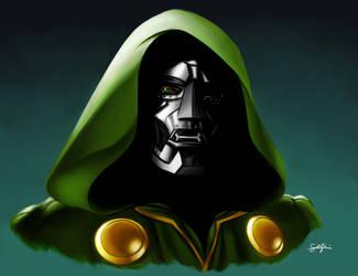 Doctor Doom Portrait by smlshin