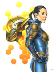 Hope van Dyne - The Wasp by smlshin