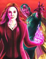 Infinity War: Wanda and Vision by smlshin