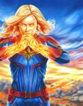 Captain Marvel by smlshin