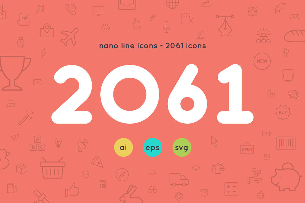 2061 icons - Nanoline icons by diekave
