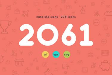 2061 icons - Nanoline icons