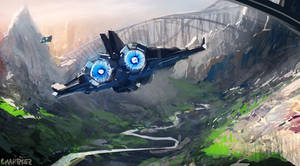 Blue travel 2 by Pierrick